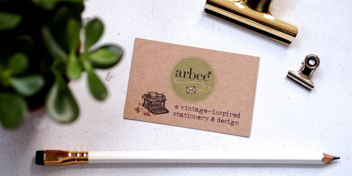 Arbee vintage inspired stationery & design