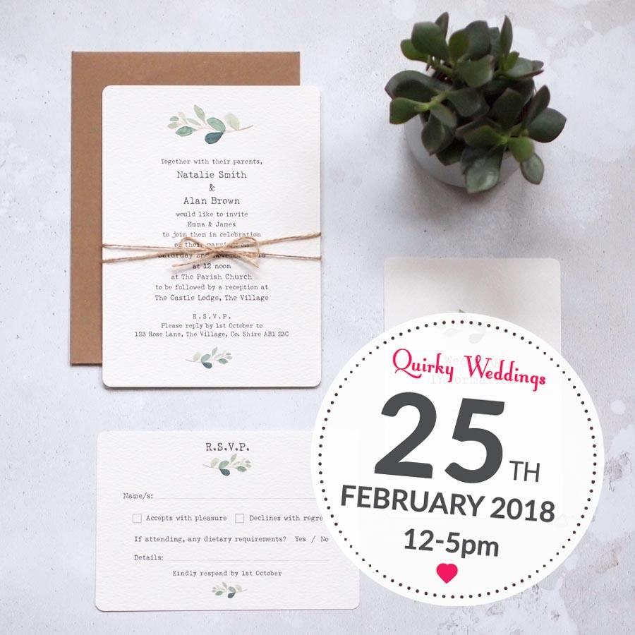 Save the Date for the Quirky Weddings Fair!